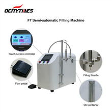 Ocitytimes F7 semi-automatic e juice/ cbd oil filling machine for cartridge/ vape pen